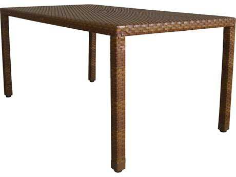 Panama Jack St. Barth's Wicker 60 x 36 Rectangular Dining Table