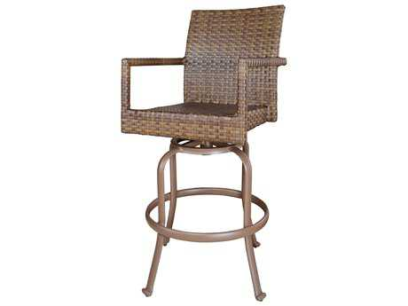 Panama Jack St. Barth's Wicker Swivel Barstool
