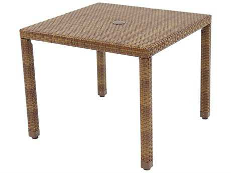 Panama Jack St. Barth's Wicker 36 Square Dining Table