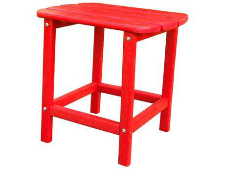 Panama Jack Adirondack Resin 19 x 15 Rectangular Red End Table