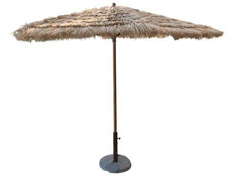 Panama Jack Tiki 9 FT Thatch Aluminum Crank Umbrella