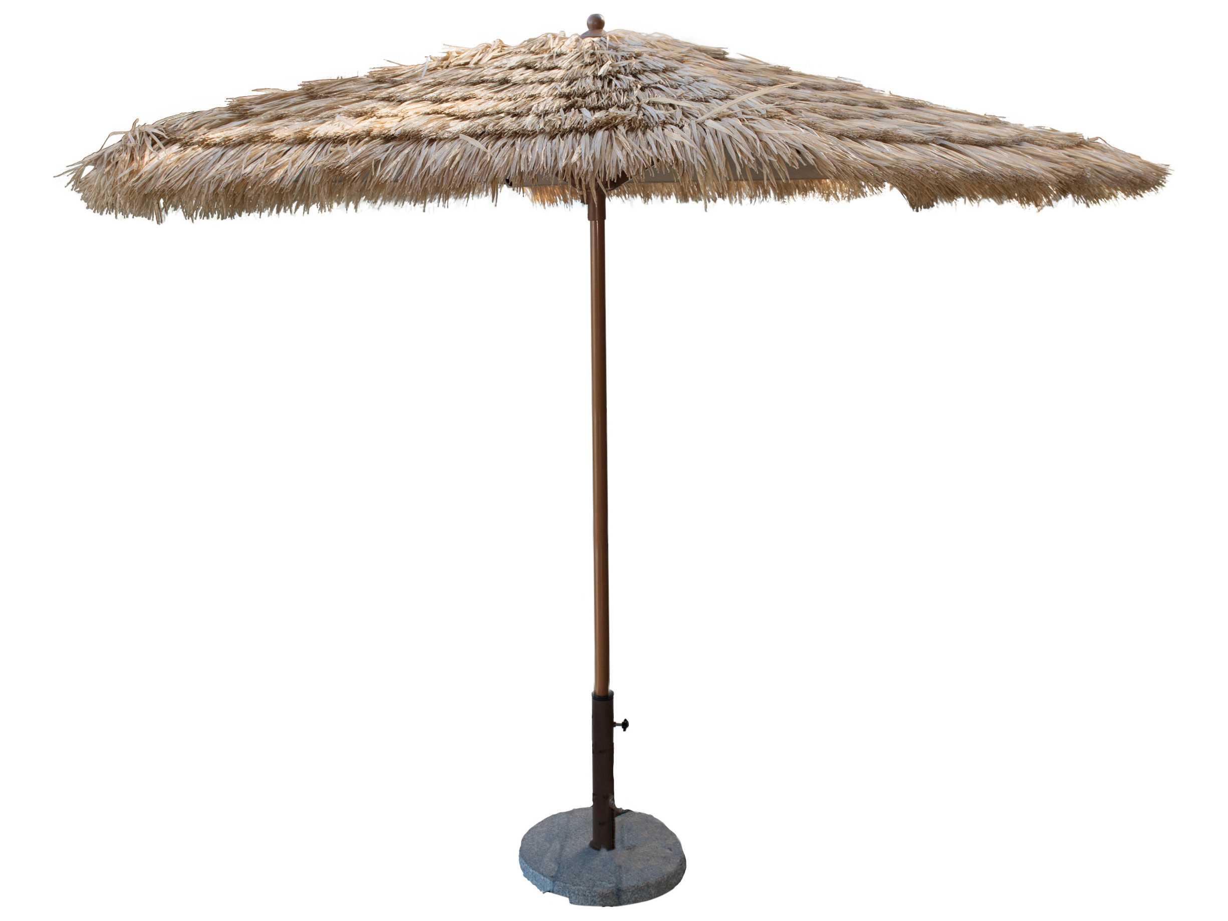 Panama Jack Tiki 9 Ft Thatch Aluminum Crank Umbrella Pjo