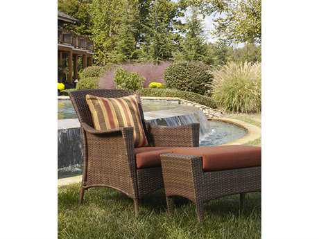 Panama Jack Key Biscayne Wicker Lounge Chair & Ottoman Set