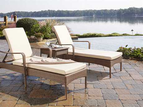 Panama Jack Key Biscayne Aluminum Three Piece Chaise Lounge Set