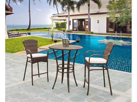 Panama Jack Key Biscayne Wicker Three Piece Pub Lounge Set