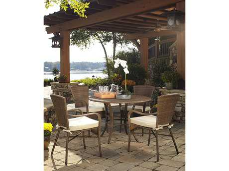 Panama Jack Key Biscayne Wicker Five Piece Dining Set