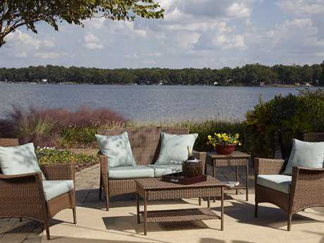 Panama Jack Key Biscayne Wicker Five Piece Lounge Set