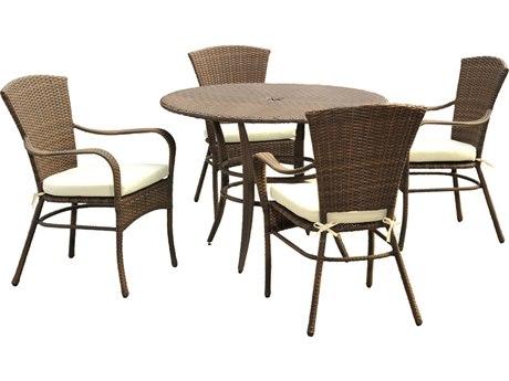 Panama Jack Key Biscayne Wicker Dining Set