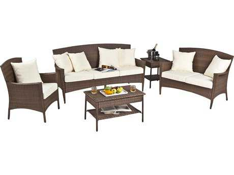 Panama Jack Key Biscayne Wicker Five Piece Sofa Set