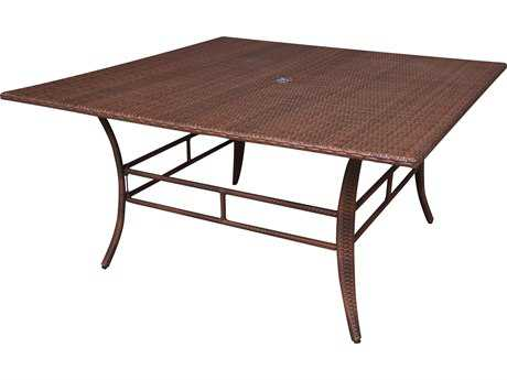 Panama Jack Key Biscayne Aluminum 60 Square Dining Table