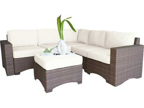 Panama Jack Key Biscayne Wicker 6 PC Sectional