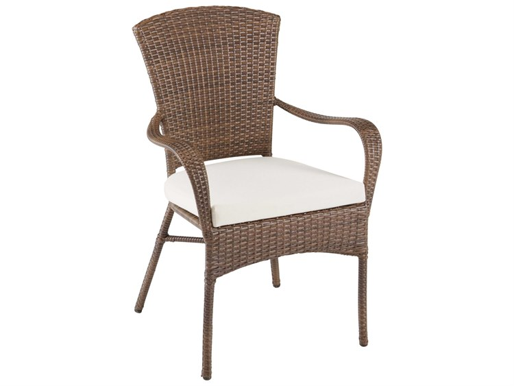 Panama Jack Key Biscayne Wicker Stackable Dining Arm Chair