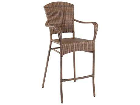Panama Jack Key Biscayne Wicker Stackable Barstool