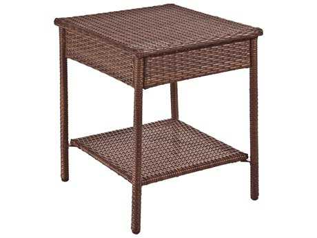 Panama Jack Biscayne Aluminum 18.75 Square Biscayne End Table PatioLiving