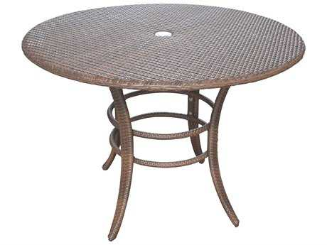Panama Jack Key Biscayne Aluminum 42 Round Dining Table