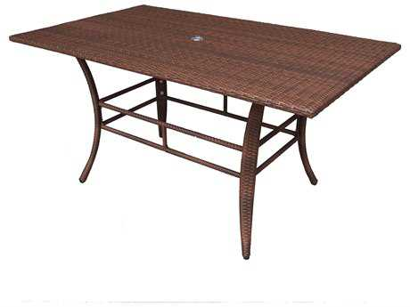 Panama Jack Key Biscayne Aluminum 60 x 36 Rectangular Dining Table