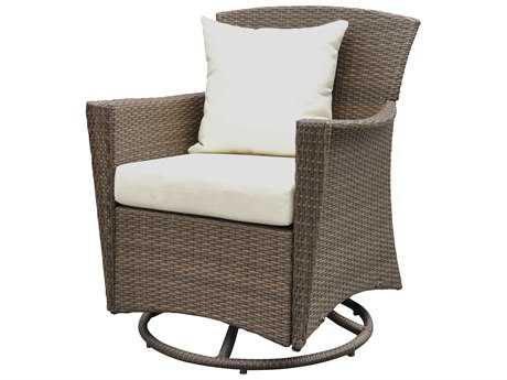 Panama Jack Key Biscayne Wicker Swivel Lounge Chair