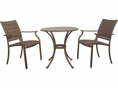 Panama Jack Island Cove Wicker Three Piece Dining Set