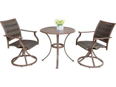 Panama Jack Island Cove Wicker Three Piece Bistro Dining Set