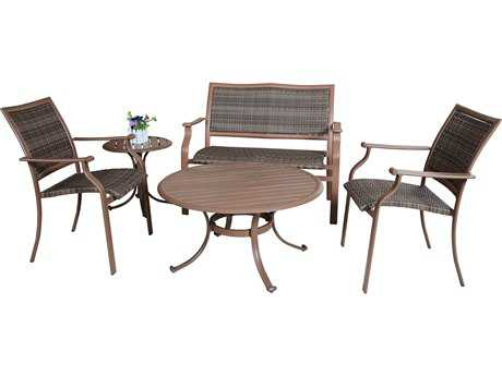 Panama Jack Island Cove Wicker Five Piece Lounge Set