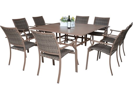 Panama Jack Island Cove Wicker Dining Set