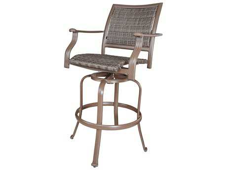 Panama Jack Island Cove Wicker Swivel Barstool