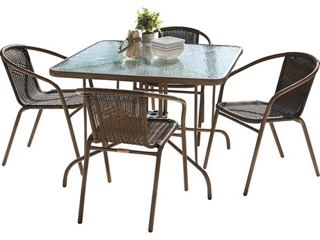Panama Jack Cafe Steel Dining Set
