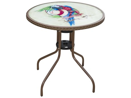Panama Jack Cafe Steel Round Bistro Table