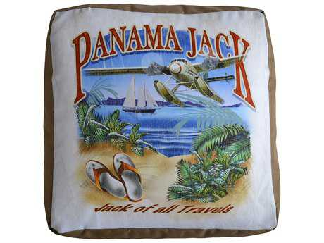 Panama Jack Pouf of all Travels Ottoman