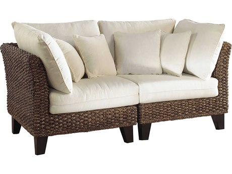 Panama Jack Sunroom Sanibel Wicker Cushion Loveseat