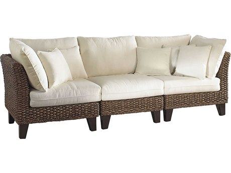 Panama Jack Sunroom Sanibel Wicker Cushion Sofa
