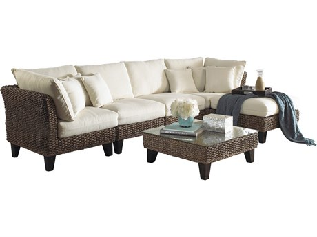 Panama Jack Sunroom Sanibel Wicker Cushion Lounge Set