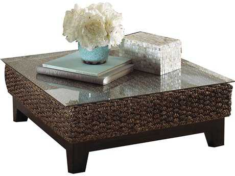 Panama Jack Sanibel Wicker 31.5 Square Coffee Table PatioLiving