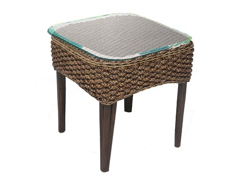 Panama Jack Sanibel Wicker 22 Square End Table PatioLiving