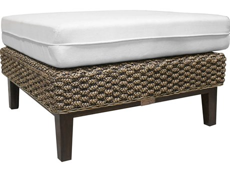 Panama Jack Sanibel Wicker Ottoman PatioLiving