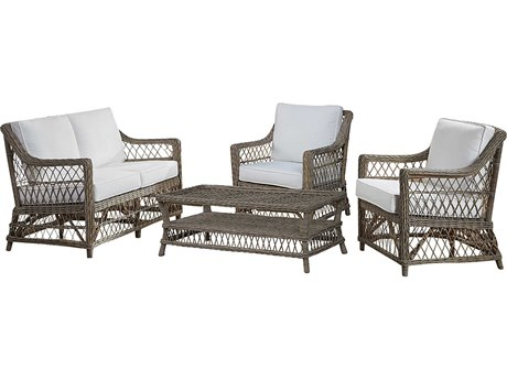Panama Jack Sunroom Seaside Wicker Cushion Lounge Set