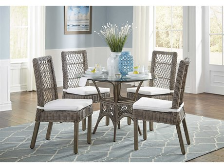 Panama Jack Sunroom Seaside Wicker Dining Set
