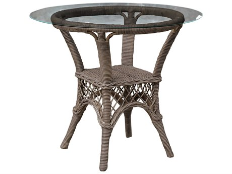 Panama Jack Seaside Wicker Round Dining Table