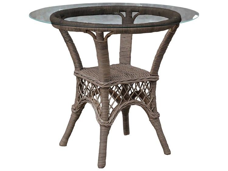 Panama Jack Seaside Wicker Round Dining Table