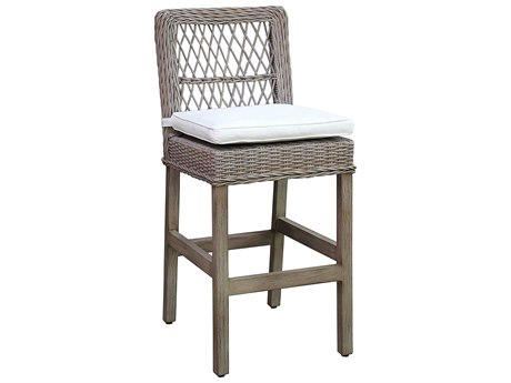 Panama Jack Sunroom Seaside Wicker Cushion Bar Stool