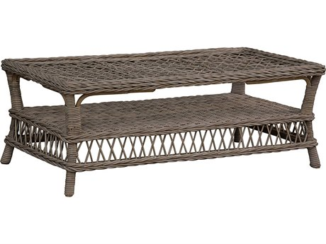 Panama Jack Seaside 47'' Wide Wicker Rectangular Coffee Table