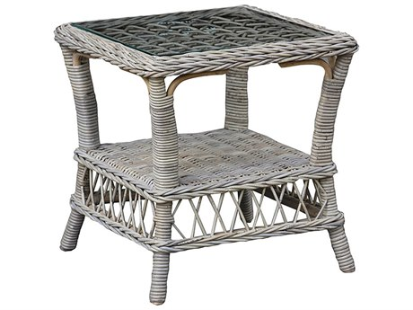 "Panama Jack Seaside 20"" Wide Wicker Square End Table"