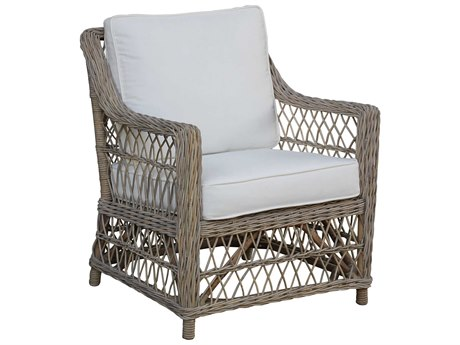 Panama Jack Sunroom Seaside Wicker Cushion Lounge Chair