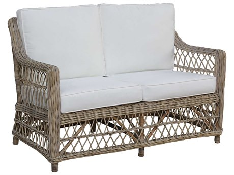 Panama Jack Sunroom Seaside Wicker Cushion Loveseat