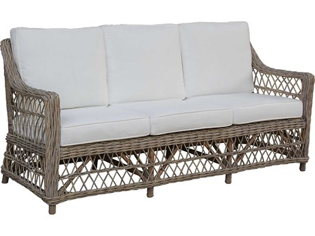 Panama Jack Sunroom Seaside Wicker Cushion Sofa