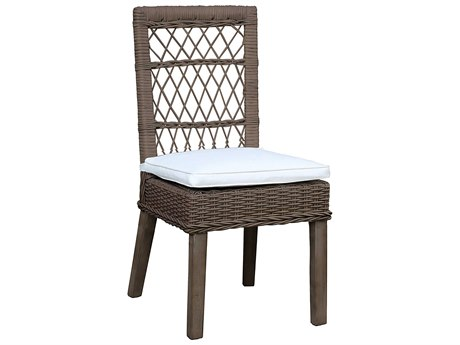 Panama Jack Sunroom Seaside Wicker Cushion Dining Chair