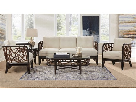 Panama Jack Sunroom Trinidad Wicker Cushion Lounge Set