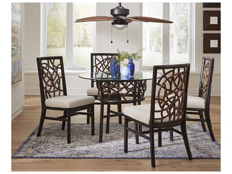 Panama Jack Sunroom Trinidad Wicker Dining Set