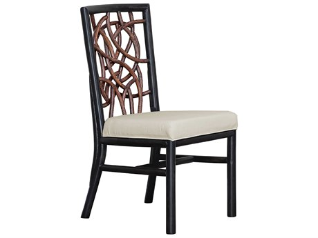 Panama Jack Sunroom Trinidad Wicker Cushion Dining Chair