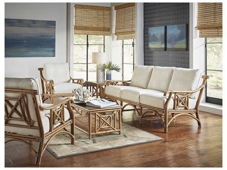 Panama Jack Sunroom Plantation Bay Wicker Cushion Lounge Set